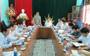 Đồng chí Hoàng Thanh Mịch, Trưởng Ban Tuyên giáo Tỉnh uỷ, Trưởng Ban VH-XH&DL kết luận buổi giám sát tại Sở VH-TT&DL.