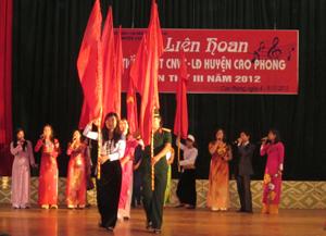 Tiết mục múa, hát của CĐ cơ quan UBND huyện Cao Phong đạt giải A tại liên hoan.