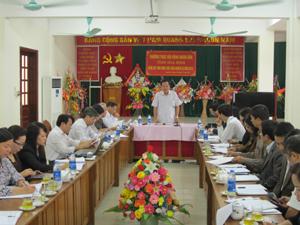 Đồng chí Đinh Duy Sơn, Phó Chủ tịch HĐND tỉnh kết luận tại cuộc giám sát BHXH tỉnh.