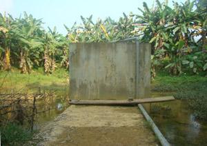 Công trình nước sạch tại 2 xóm Hang Đá và Hang Đồi 1 (Cư Yên) đã bị dò rỉ nước và ô nhiễm nguồn nước sinh hoạt.