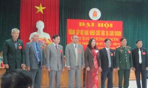 BCH Hội nạn nhân chất độc da cam/dioxin huyện Lương Sơn khóa I ra mắt Đại hội.