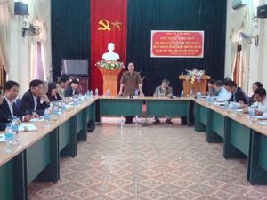 Đồng chí Nguyễn Văn Quang, Phó Bí thư TT Tỉnh uỷ, Chủ tịch HĐND tỉnh phát biểu chỉ đạo tại hội nghị