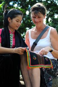 Một nét khăn Piêu của người Thái đen Điện Biên.