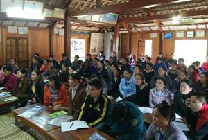 Đông đảo học viên tham dự lớp tập huấn tại huyện Mai Châu.