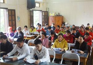 Lớp tập huấn cho cán bộ, cộng tác viên, tình nguyện viên làm công tác bảo vệ, chăm sóc trẻ em của huyện Đà Bắc.