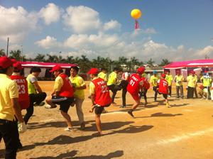 Các VĐV - NLĐ tham gia thi đấu tại Đại hội thể dục thể thao của Công ty.