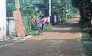 Xóm Ninh Sơn, một trong những xóm tiêu biểu trong phong trào xây dựng giao thông nông thôn