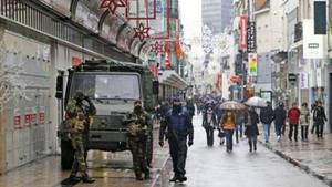 Cảnh sát và an ninh được tăng cường tại Thủ đô Brussels. (Nguồn: Franceinfo/Reuters)