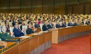 Toàn cảnh phiên bế mạc Kỳ họp thứ 10, Quốc hội khóa XIII.               Ảnh: TUẤN HẢI