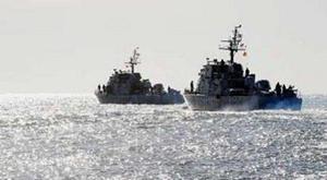 Tàu Hàn Quốc tuần tra trên vùng biển gần biên giới với Triều Tiên.