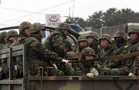 Lính thuỷ đánh bộ Hàn Quốc.