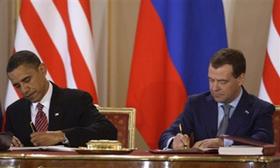 Hai nhà lãnh đạo Nga - Mỹ đã ký hiệp ước START mới vào tháng 4/2010.