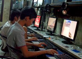 Ảnh minh họa chụp lúc 1h sáng ngày 24/10/2010 tại một quán game  trên đường Lê Thanh Nghị