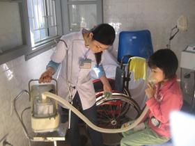 Bệnh nhân mắc cúm được chăm sóc, điều trị tại Bệnh viện Đa khoa tỉnh