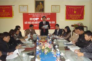 Quang cảnh buổi họp báo về Hội khỏe Phù Đổng tỉnh lần thứ VI năm 2011
