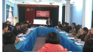 Các đại biểu thảo luận xây dựng kế hoạch năm 2012.