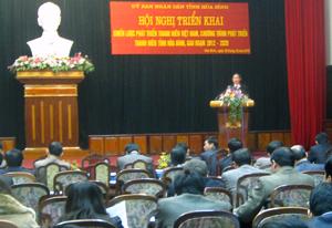 Hội nghị triển khai Chương trình phát triển thanh niên tỉnh giai đoạn 2012 - 2020.