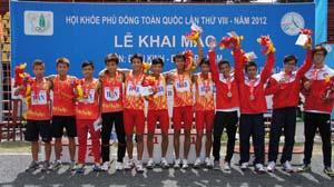 Đội tuyển điền kinh THPT tỉnh ta (4 VĐV giữa), đoạt HCV tại HKPĐ toàn quốc lần thứ VIII.