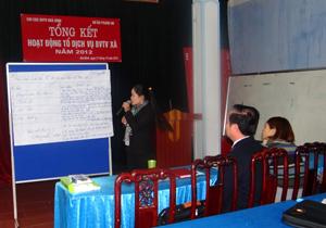 Cán bộ BVTV chia sẻ kinh nghiệm để nâng cao hiệu quả hoạt động của các tổ PPSG trong năm 2013.