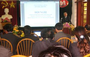 Quang cảnh hội nghị công bố Quy hoạch