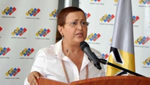 Chủ tịch Hội đồng bầu cử quốc gia Venezuela (NEC) Tibisay Lucena. (Ảnh: AVN)