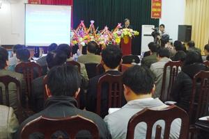 Toàn cảnh hội nghị công bố quy hoạch của Sở NN&PTNT.