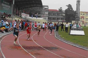 Thi đấu môn điền kinh (cự ly 200 m nữ THCS) tại HKPĐ toàn tỉnh lần thứ VII-năm 2014.