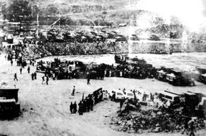 Ngày hội ngăn sông Đà đợt 1 tháng 1/1983.