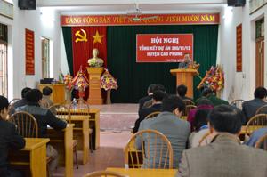Hội nghị tổng kết dự án 395/11/13 tại huyện Cao Phong.