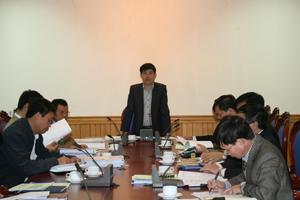 Đồng chí Nguyễn Văn Dũng, Phó Chủ tịch UBND tỉnh, Chủ tịch Hội đồng thẩm định dự án phát biểu kết luận hội nghị.