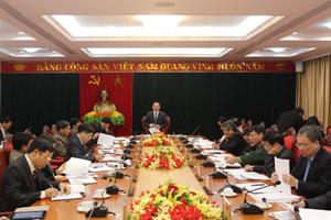 Ban Thường vụ Tỉnh ủy cho ý kiến về một số vấn đề quan trọng của tỉnh