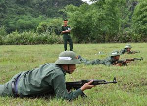 Ban CHQS huyện làm tốt công tác huấn luyện, đảm bảo sẵn sàng chiến đấu trong mọi tình huống.