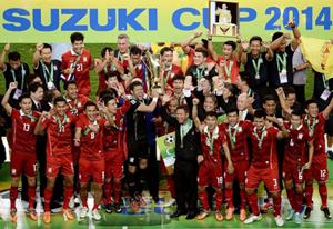 Đội tuyển Thái-lan đăng quang tại AFF Suzuki Cup 2014.
