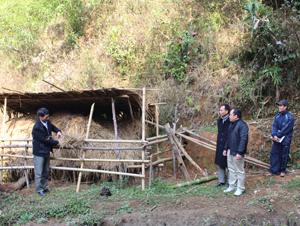 Đoàn kiểm tra nắm bắt tình hình chuẩn bị thức ăn cho gia súc tại hộ chăn nuôi