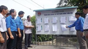Bảng tin thanh niên chung tay xây dựng NTM được xây dựng điểm tại xã Độc Lập (Kỳ Sơn) có vai trò định kỳ hàng tuần được cập nhật, cung cấp thông tin về các chủ trương của Đảng, chính sách, pháp luật của Nhà nước... đến nhân dân trên địa bàn.