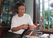 Ông Huỳnh Văn Hồng - người có công tìm thấy bộ đàn đá Tuy An.