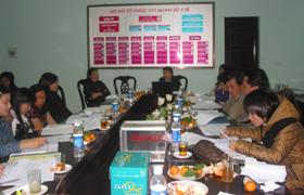 Các đơn vị thảo luận kế hoạch hành động năm 2010.