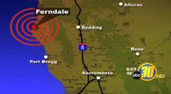 Trận động đất xảy ra bờ biển phía nam California.