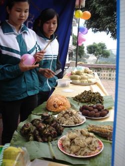 Ẩm thực dân giân Mường được đưa vào chương trình học ngoại khoá, tìm hiểu, chế biến món ăn dân tộc ở nhiều trường học trong tỉnh