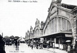 Chợ Đồng Xuân xưa.