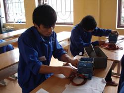 Các học viên được đào tạo  nghề theo hướng lấy thực hành là chính