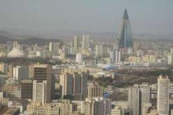 Một góc Thủ đô Bình Nhưỡng của CHDCND  Triều Tiên.