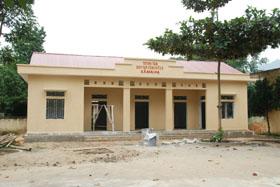 Trung tâm học tập cộng đồng xã Mai Hạ đang được hoàn thiện sẽ là nơi để nhân dân hội họp, học tập.