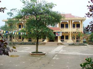 Trường tiểu học Tu Lý ( Đà Bắc) vắng bóng học sinh trong những ngày rét đậm.