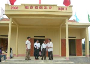 Nhà văn hóa xóm Cửa Luỹ, xã Đoàn Kết ( Yên Thuỷ) phát huy hiệu quả trong sinh hoạt cộng đồng.