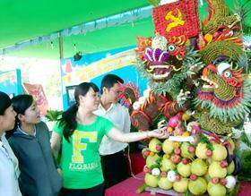 Tác phẩm đoạt giải nhất Hội thi Kết hình thú của Hội xuân Bình Tân năm 2011 luôn thu hút người xem.