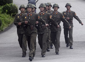 Binh sĩ Triều Tiên tại Panmunjom.