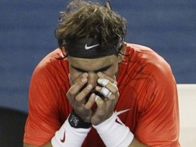 Rafael Nadal thất vọng sau trận đấu