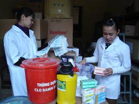 Trung tâm YTDP tỉnh chuẩn bị vật tư, cơ số thuốc phục vụ công tác chống dịch chủ động.