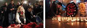 Nhiều hoạt động tưởng niệm các nạn nhân vụ đánh bom ở sân bay Domodedovo diễn ra trên khắp nước Nga.